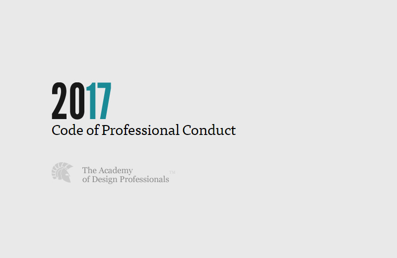A Design Professional's Code of Conduct
